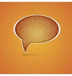 Speech bubble Eps 10 vector image vector image