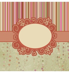 Template frame design for greeting card EPS 8 vector image vector image