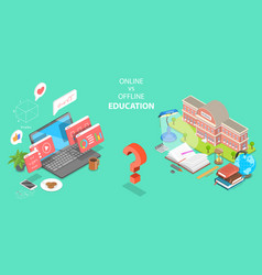 3d isometric flat concept online vector image