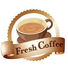 A fresh coffee label vector