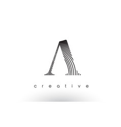 A logo design with multiple lines and black and vector
