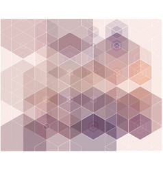 abstract blue purple color hexagon background vector image