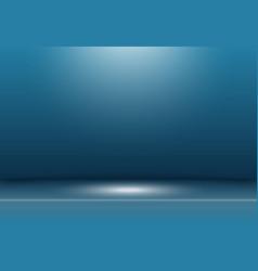Abstract dark blue studio background vector