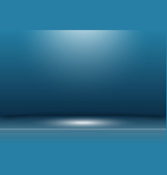 abstract dark blue studio background with vector image