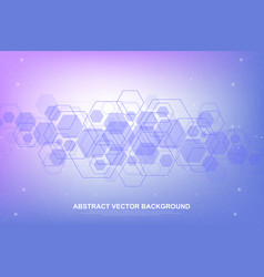 abstract hexagonal background with waves vector image