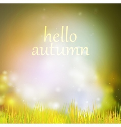 Autumn or summer abstract nature background vector image