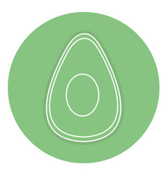 Avocado half fresh isolated icon vector
