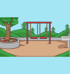 background in parkplayground kidkids play vector image