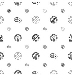Ban icons pattern seamless white background vector
