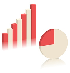 Bar chart and pie chart vector