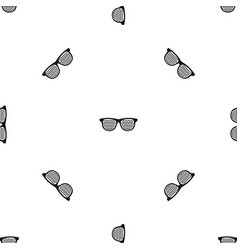 Black pinhole glasses pattern seamless black vector