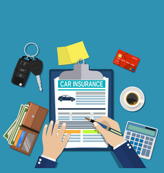 car insurance form concept vector image