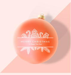 Christmas greeting card poster banner or party vector