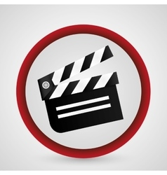 Clapboard cinema and movie design vector