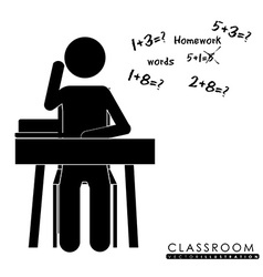 Class room desing vector