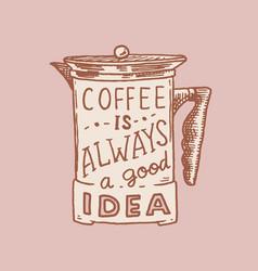 coffee filter logo and emblem for shop vintage vector image