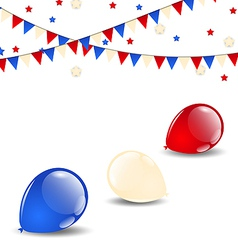 Colorful balloons in american flag colors vector image