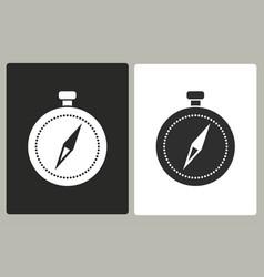 compass - icon vector image