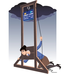 Credit card guillotine vector