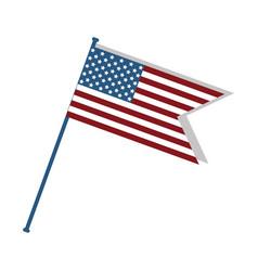 Cute flag usa to celebrate patriotism vector