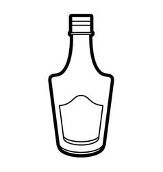 Delicious wine drink bottle vector