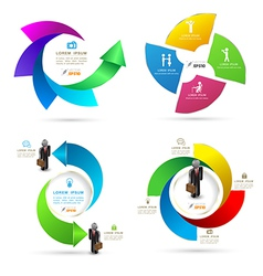 Design rotation template graphic set vector image