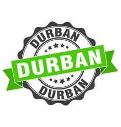 Durban round ribbon seal vector