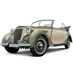 European prewar luxury convertible vector image