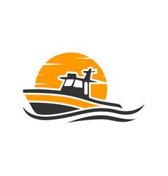 fast ship transportation logo vector image