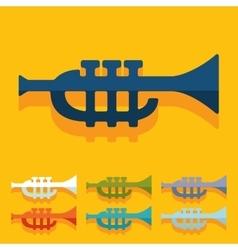 Flat design trumpet vector