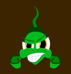 Flat icon on theme angry fish animal vector