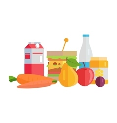 Food concept in flat style design vector