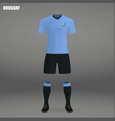 Football kit of uruguay 2018 vector