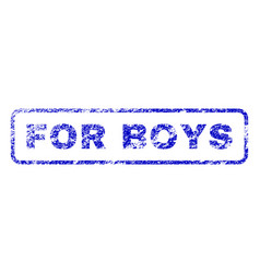 For boys rubber stamp vector