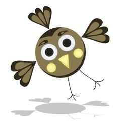 Funny Cartoon Bird vector