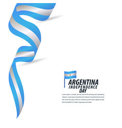 Happy argentina independence day celebration vector