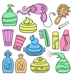 icon set make up beauty and fashion supplies vector image