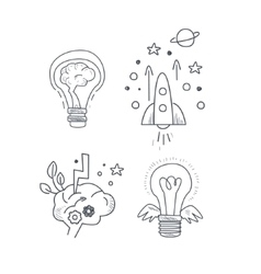 Idea Symbolic Icon Set vector