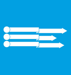 Infographic arrows icon white vector