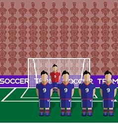 Japan Soccer Club Penalty on a Stadium vector