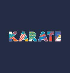 Karate concept word art vector