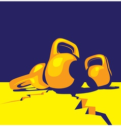 kettlebell colorful vector image