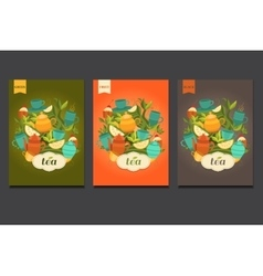Label design for tea vector