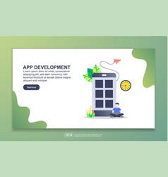 landing page template app development modern vector image
