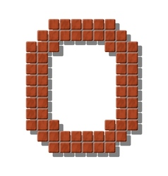 Letter O made from realistic stone tiles vector