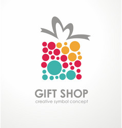 logo design for gift shop vector image