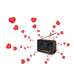 Love Songs Playing on A Beautiful Old Radio vector image