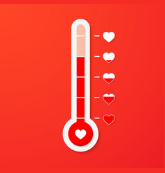 love thermometer valentines day card element in vector image