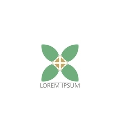 Mandalas or Geometrical logos vector image
