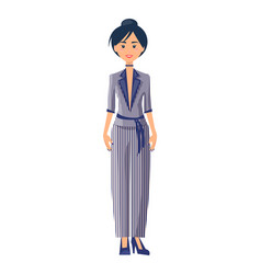 model in elegance suit color vector image